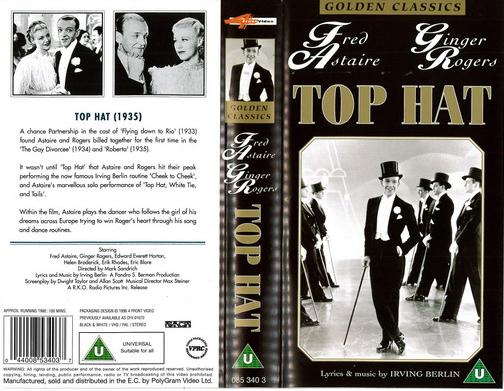 TOP HAT (VHS) UK