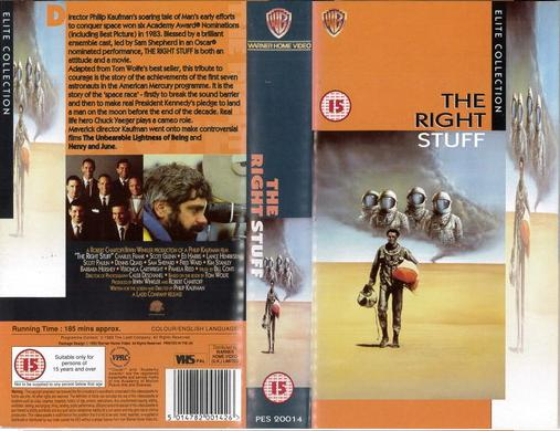 RIGHT STUFF -UK (VHS)