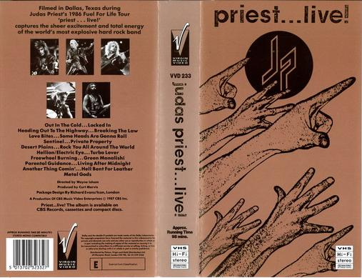 JUDAS PRIEST...LIVE (VHS)
