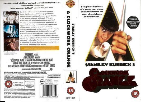 CLOCKWORK ORANGE (VHS) UK