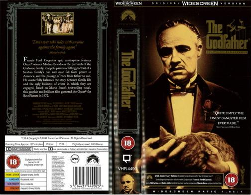 GODFATHER (VHS) UK