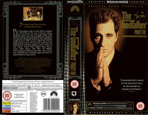 GODFATHER 3 (VHS) UK