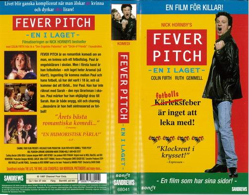 FEVER PITCH (VHS)