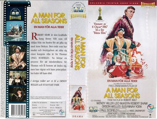A MAN FOR ALL SEASONS (VHS)
