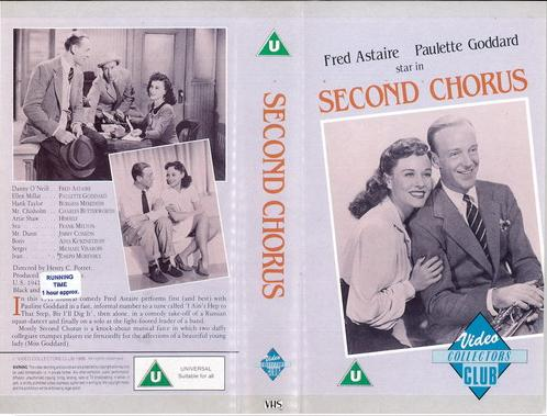 SECOND CHORUS (VHS) UK IMPORT