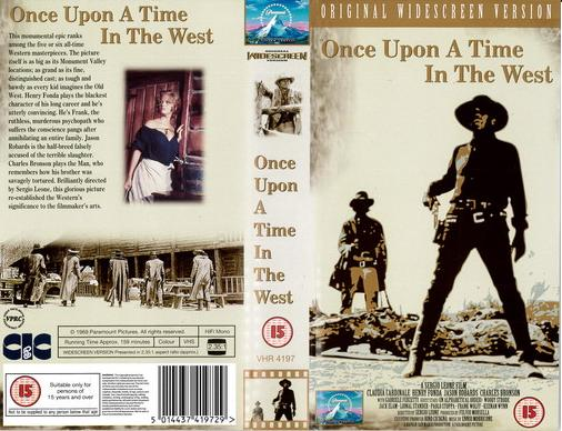 ONCE UPON A TIME IN THE WEST (VHS) UK