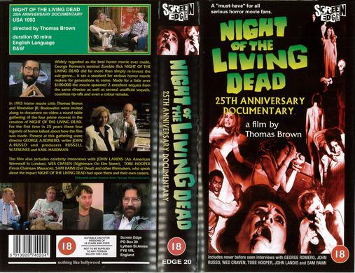 NIGHT OF THE LIVING DEAD (VHS) UK
