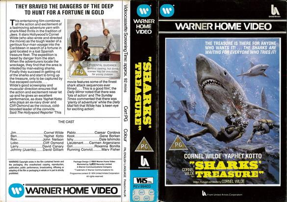 SHARKS TREASURE (VHS) UK