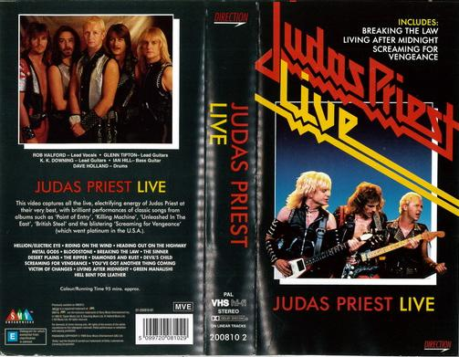 JUDAS PRIEST - LIVE (VHS)