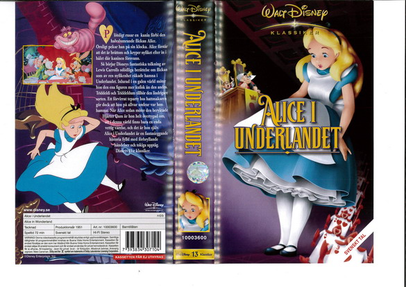 ALICE I UNDERLANDET (VHS) NYARE VERSION