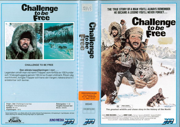 85045 CHALLENGE TO BE FREE (VHS)