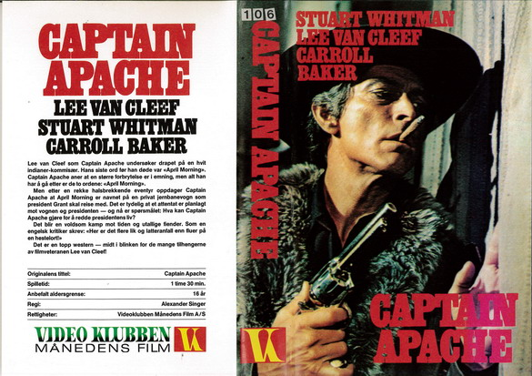 CAPTAIN APACHE  (VHS) IMPORT