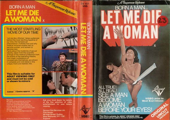 LET ME DIE A WOMAN  (VHS) UK
