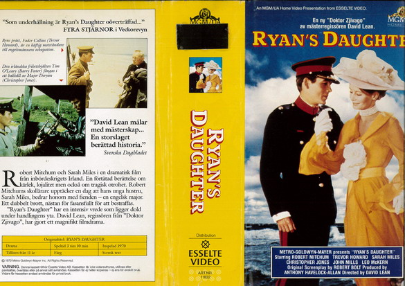 RYAN'S DAUTHER (VHS)