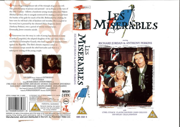 LES MISERABLES (1978) (VHS) UK
