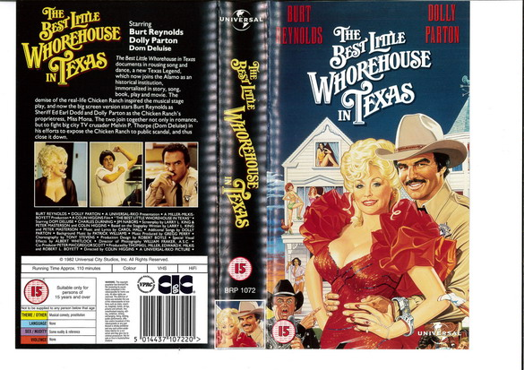 BEST LITTLE WHOREHOUSE IN TEXAS (VHS) UK