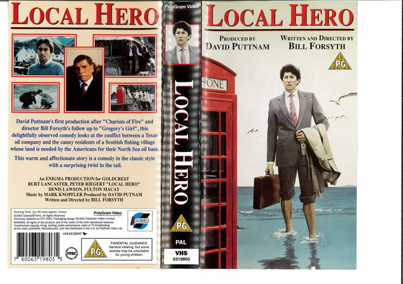 LOCAL HERO (VHS) UK