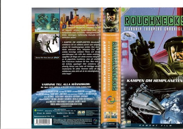 ROUGHNECKS DEL 6  (VHS)