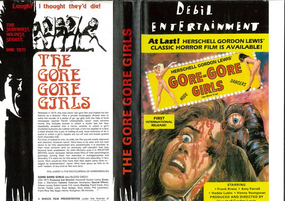 GORE-GORE GIRLS  (VHS) IMPORT