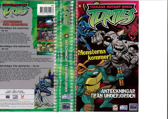 TEENAGE MUTANT NINJA TURTLES 5(VHS)