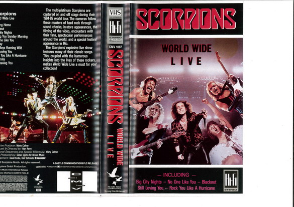 SCORPIONS - WORLD WIDE LIVE (VHS)