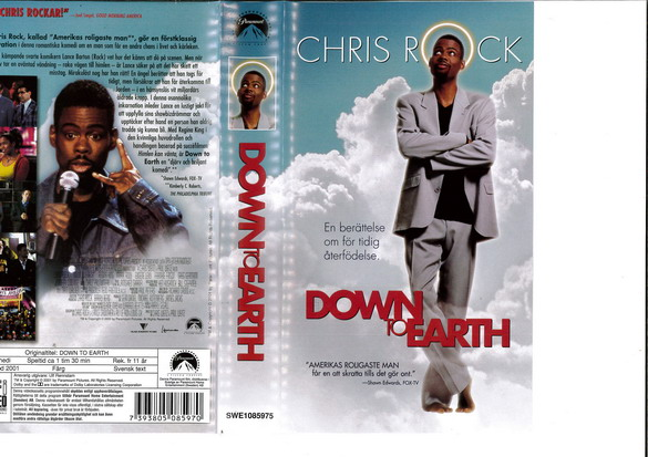 DOWN TO EARTH (VHS)