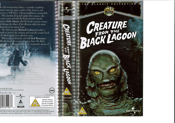 CREATURE OF THE BLACK LAGOON  (VHS) UK