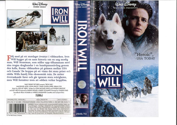 IRON WILL (VHS)