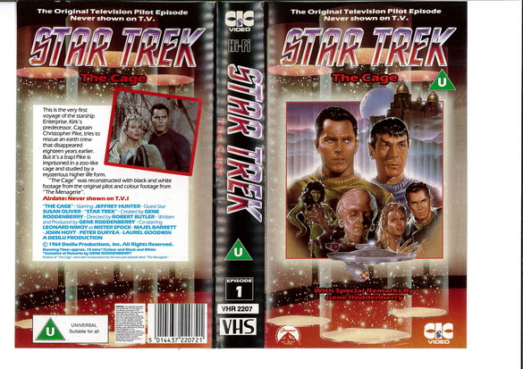 STAR TREK TOS THE CAGE (VHS)