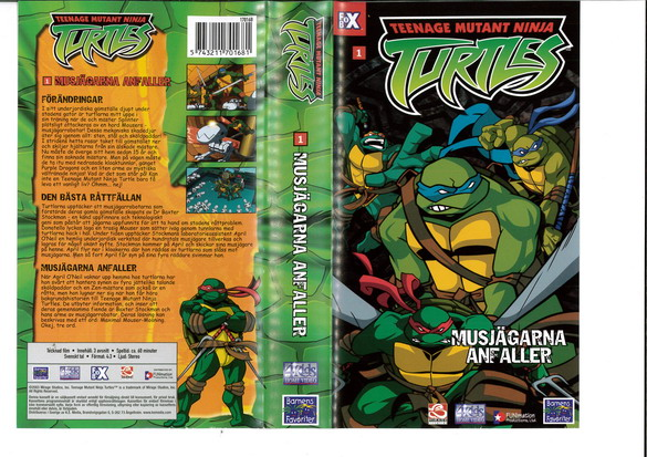 TEENAGE MUTANT NINJA TURTLES 1 (VHS)