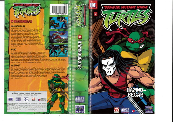 TEENAGE MUTANT NINJA TURTLES 2 (VHS)