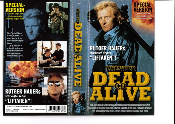 WANTED DEAD OR ALIVE (VHS)