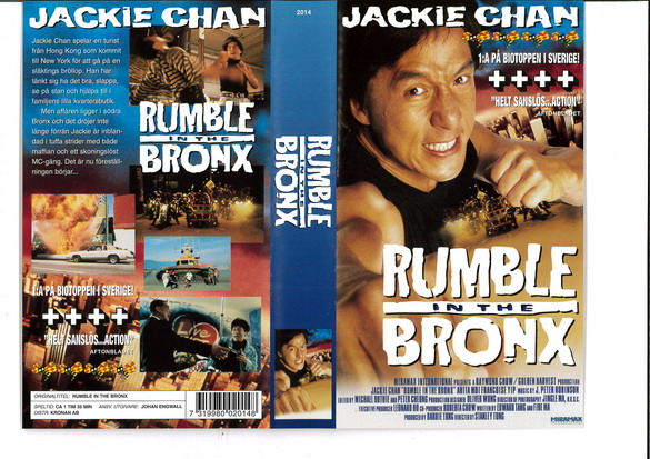 RUMBLE IN THE BRONX (VHS)