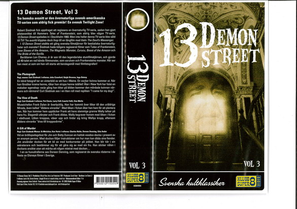13 DEMON STREET VOL 3  (VHS) ny
