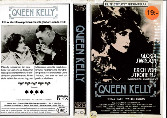 QUEEN KELLY (VHS)