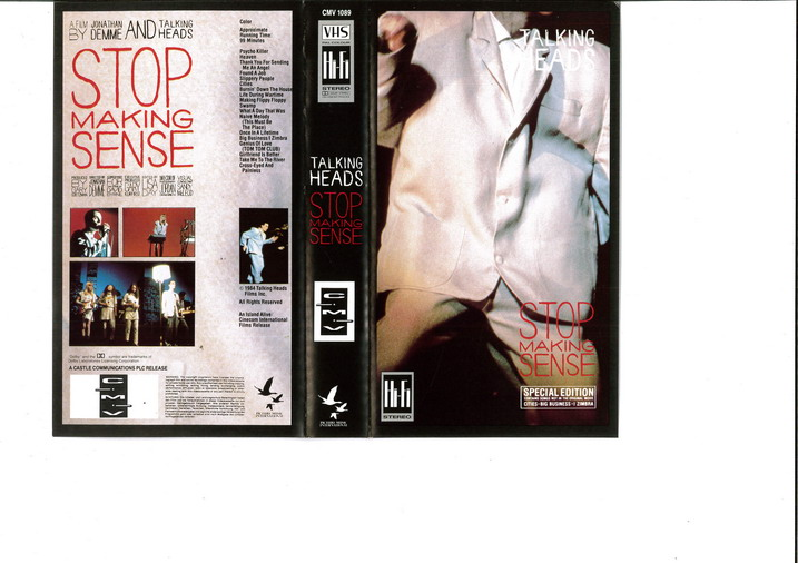TALKING HEADS - STOP MAKING SENSE (VHS)
