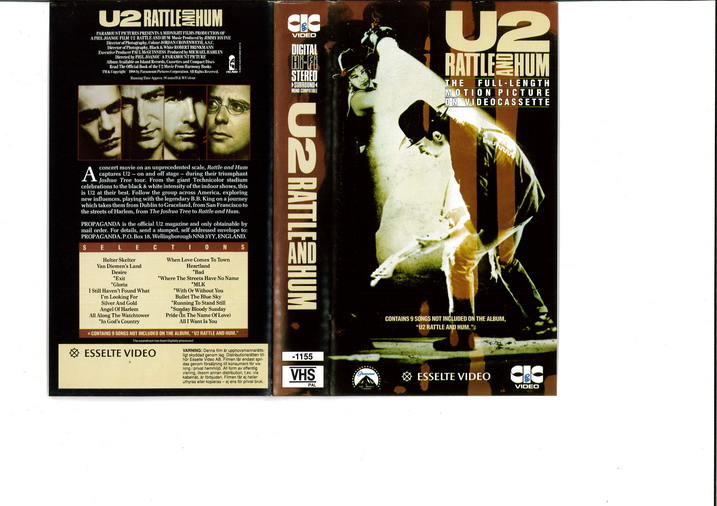 U2 - RATTLE AND HUM (VHS)