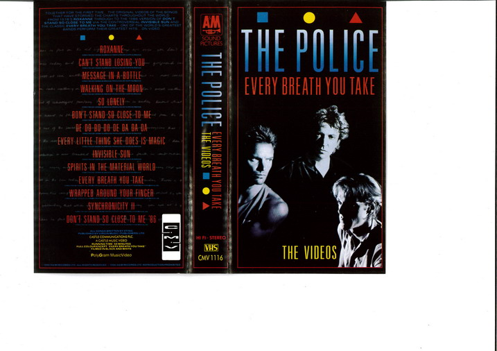 POLICE - EVERY BREATH YOU TAKE (VHS)