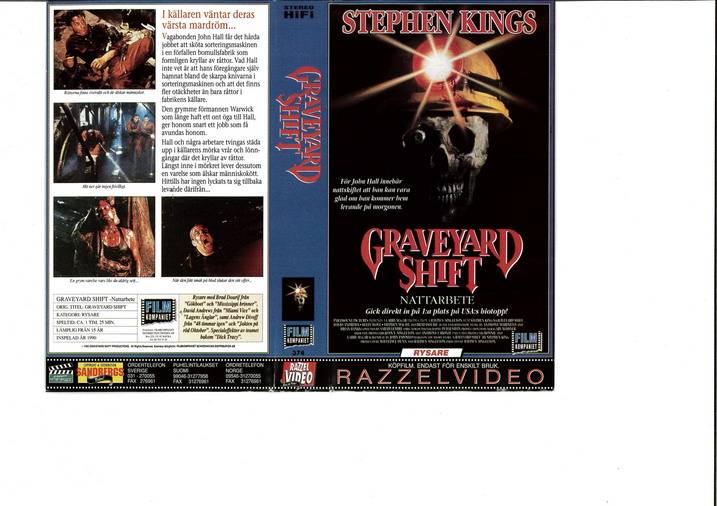 GRAVEYARD SHIFT (VHS)