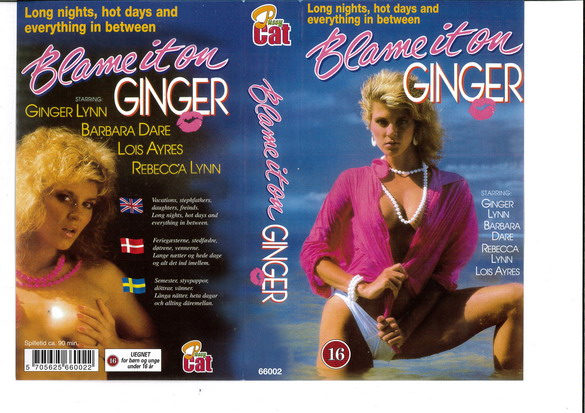 BLAME IT ON GINGER (VHS)