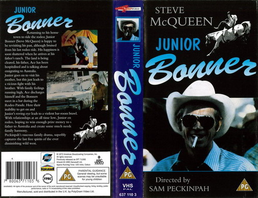 JUNIOR BONNER (VHS) UK