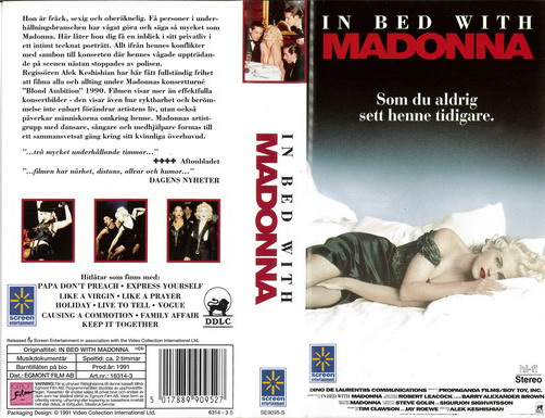 IN BED WHIT MADONNA (VHS)