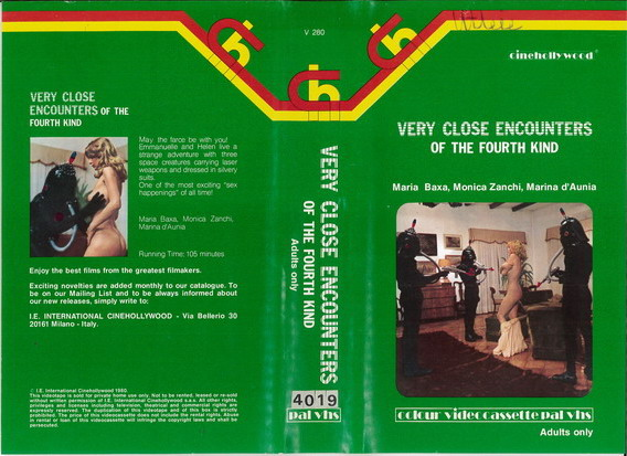VERY CLOSE ENCOUNTER OF THE FOURTH KIND  (VHS) UK