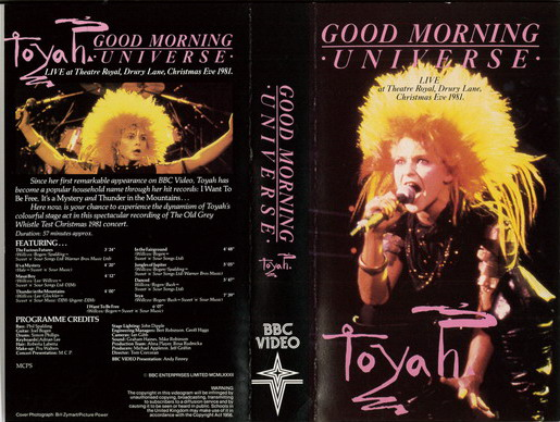 TOYAH - GOOD MORNING UNIVERSE (VHS)