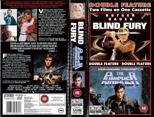 BLIND FURY/PUNISHER (VHS) UK