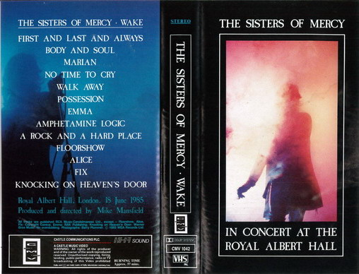 SISTERS OF MERCY - IN CONCERT AT THE ROYAL ALBERT HALL (VHS)
