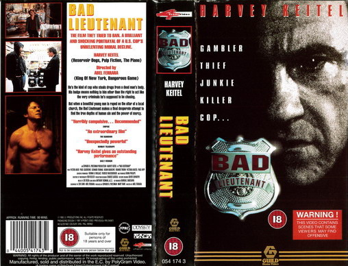 BAD LIEUTENANT (VHS) UK