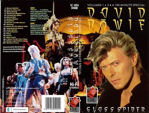 DAVID BOWIE - GLASS SPIDER (VHS)