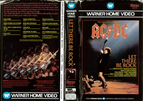 AD/DC - LET THERE BE ROCK  (VHS) UK