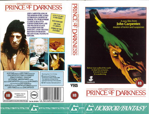 PRINCE OF DARKNESS  (VHS) UK